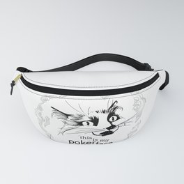 Cat Aurora Poker Face Fanny Pack