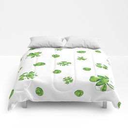 Watercolor  Lucky Charm Pattern Comforters