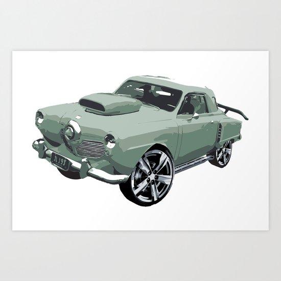 Studebaker in Green Art Print