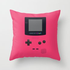 GAMEBOY Color - Pink Version Throw Pillow