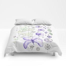 Violet Watercolor Comforters