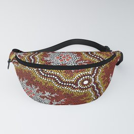 Aboriginal Art Authentic - Bushland Dreaming Ppart 2 Fanny Pack