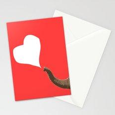 Elephant Pink Love Stationery Cards