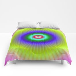 Colorful Concentric Rings Comforters