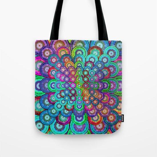 Multicolor Dots Pyramid Tote Bag