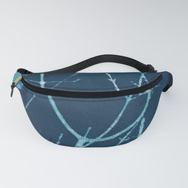 Silent Branches Cyanotype Fanny Pack