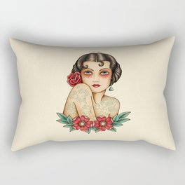 The tattooed woman Rectangular Pillow