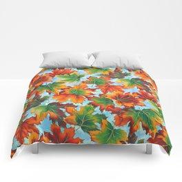Autumn maple leaves II Comforters