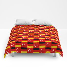 Mix of flag: Germany and turkey Comforters