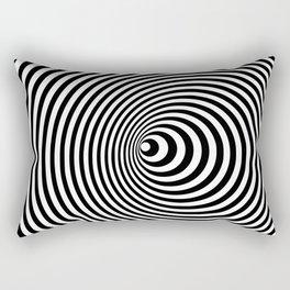 Vortex, optical illusion black and white Rectangular Pillow