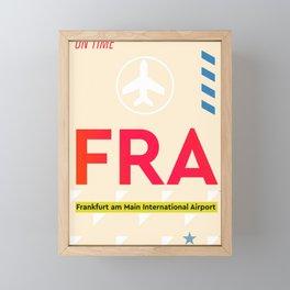 Airport FRA Frankfurt Framed Mini Art Print