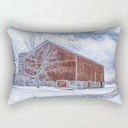 Snowing at the Farm Rectangular Pillow