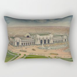 Vintage Illustration of Union Station (1906) Rectangular Pillow