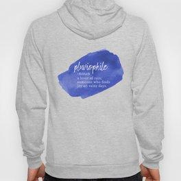 Pluviophile - Word Nerd Definition - Blue Watercolor Hoody