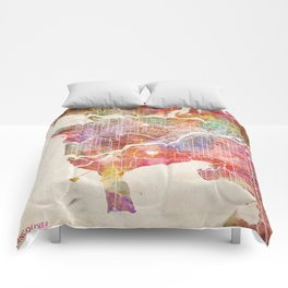 Vancouver map Comforters