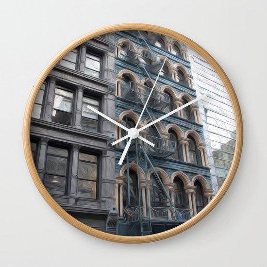 Fire Escape Wall Clock