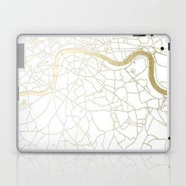 London White on Gold Street Map Laptop & iPad Skin