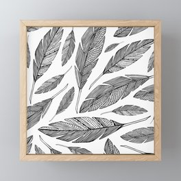 Float Like A Feather - White Framed Mini Art Print