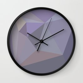 Lilac Grey Geometric Pattern - Abstract Art by Fluid Nature Wall Clock