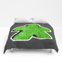 Giant Green Meeple Comforters
