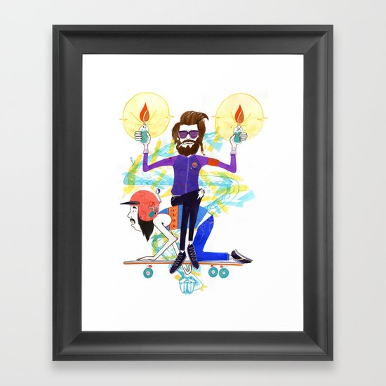 I'm Here to Party Framed Art Print