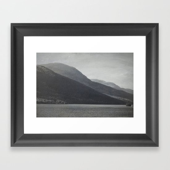 In the Shadows of Mountains Framed Art Print
