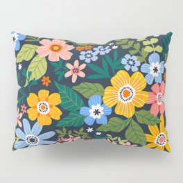 Floral print. Bright flowers. Pillow Sham