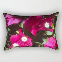 Tropical Mood Floral Print Rectangular Pillow