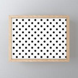 Girls just wanna have dots - Polka Dot black/white Framed Mini Art Print