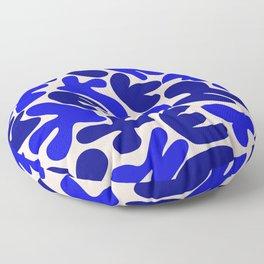 Blue abstract mural Floor Pillow