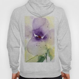 Watercolor Flowers - Pansy Hoody