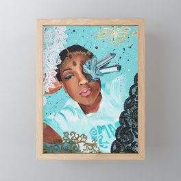 Lace In The Sky With Diamonds Framed Mini Art Print