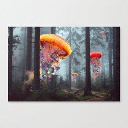 ElectricJellyfish Worlds in a Forest Leinwanddruck