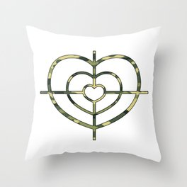Heartscope Camo Throw Pillow