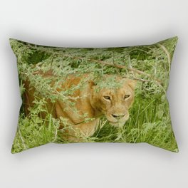 Stare of the Lion Rectangular Pillow