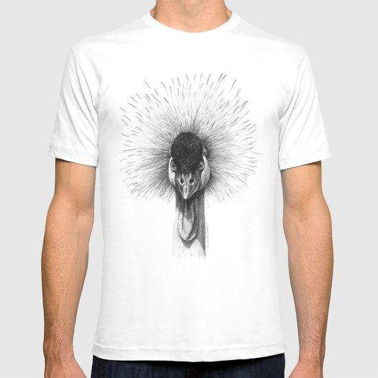 Black Crowned Crane G2012-065 T-shirt