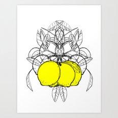 Meyer Lemon Art Print