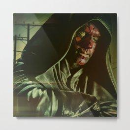Face Painter Giving Shade Metal Print