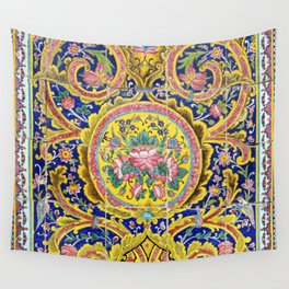 Floral Persian Tile Wall Tapestry