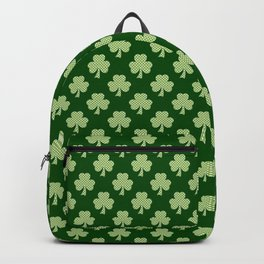 Shamrock Clover Polka dots St. Patrick's Day green pattern Backpack