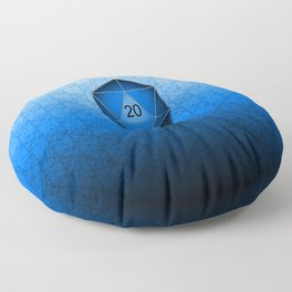 D20 All I Do Is Crit!  Blue Ombre Floor Pillow