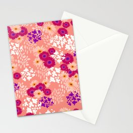 Small gerbera floral pattern Stationery Cards