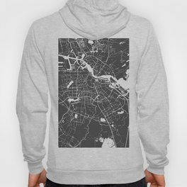 Amsterdam Gray on White Street Map Hoody