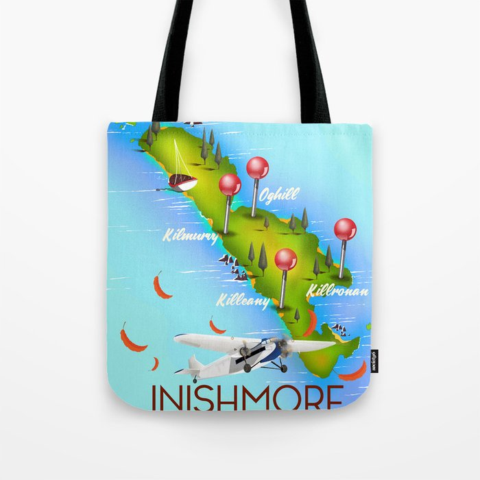 Inishmore Aran Islands Galway Bay Ireland travel poster Tote Bag