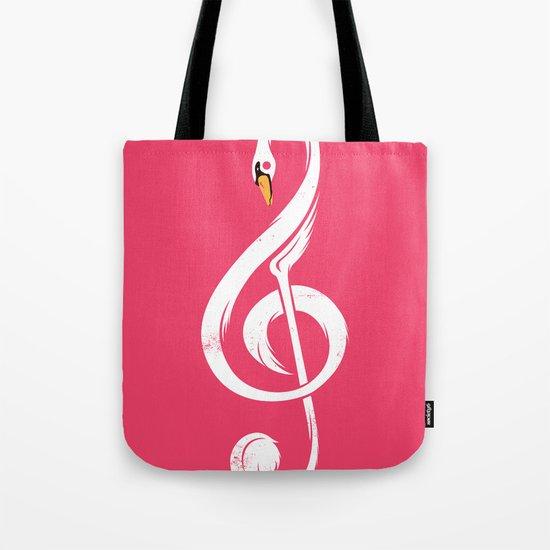 Swan's Melody Tote Bag