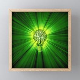 Think Green Framed Mini Art Print