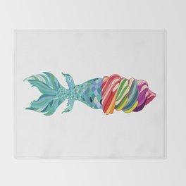 Mermaid Ice Cream Throw Blanket