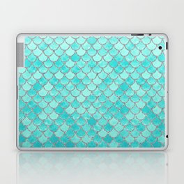 Teal Mermaid Scales Laptop & iPad Skin