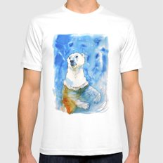 Polar Bear Inside Water MEDIUM Mens Fitted Tee White
