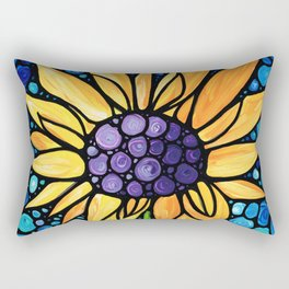 Standing Tall - Sunflower Art By Sharon Cummings Rectangular Pillow